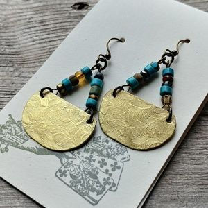 New🌿 Textured Brass Half Moons🌙